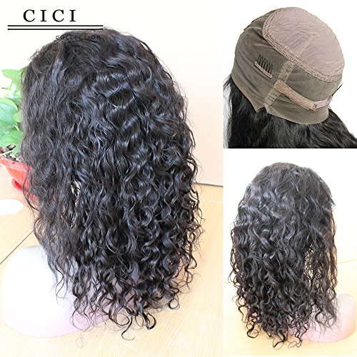 Beauty : Cici Collection 360 Lace Frontal Wig 180% Density Full Lace Human Hair Wigs For Black Women Body Wave 360 Lace Wig Lace Front Human Hair Wigs (14inch, Deep Body Wave)