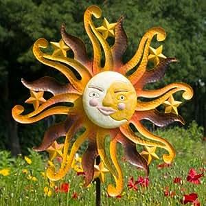 Wind Rueda de viento Jardín Conector sol Metal, 160cm