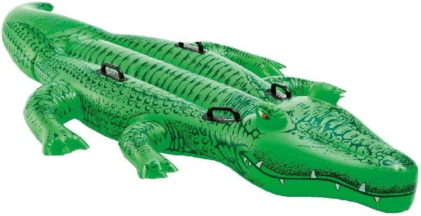 """B000030000 Intex Giant Gator Ride-On, 80"""" X 45"""", for Ages 3+ 612kr-eJeZL"""
