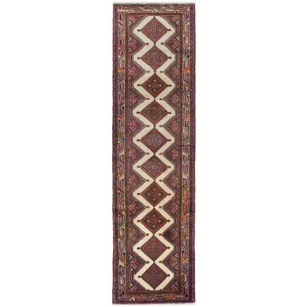 2 9 x 10 2 Solo Rugs M1848-110 Hamadan Hand Knotted Runner Rug Red
