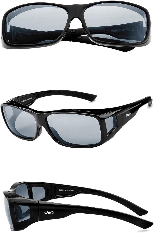 DUCO Unisexe Wear Over Prescription Lunettes RX Lunettes Lunettes de soleil polarisées 8953