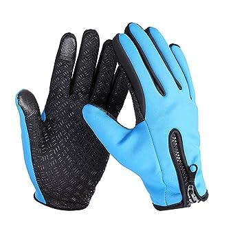 Guantes con cremallera 5 dedos Al aire libre deporte permeabilidad al aire Esquiar Pantalla táctil Ciclismo