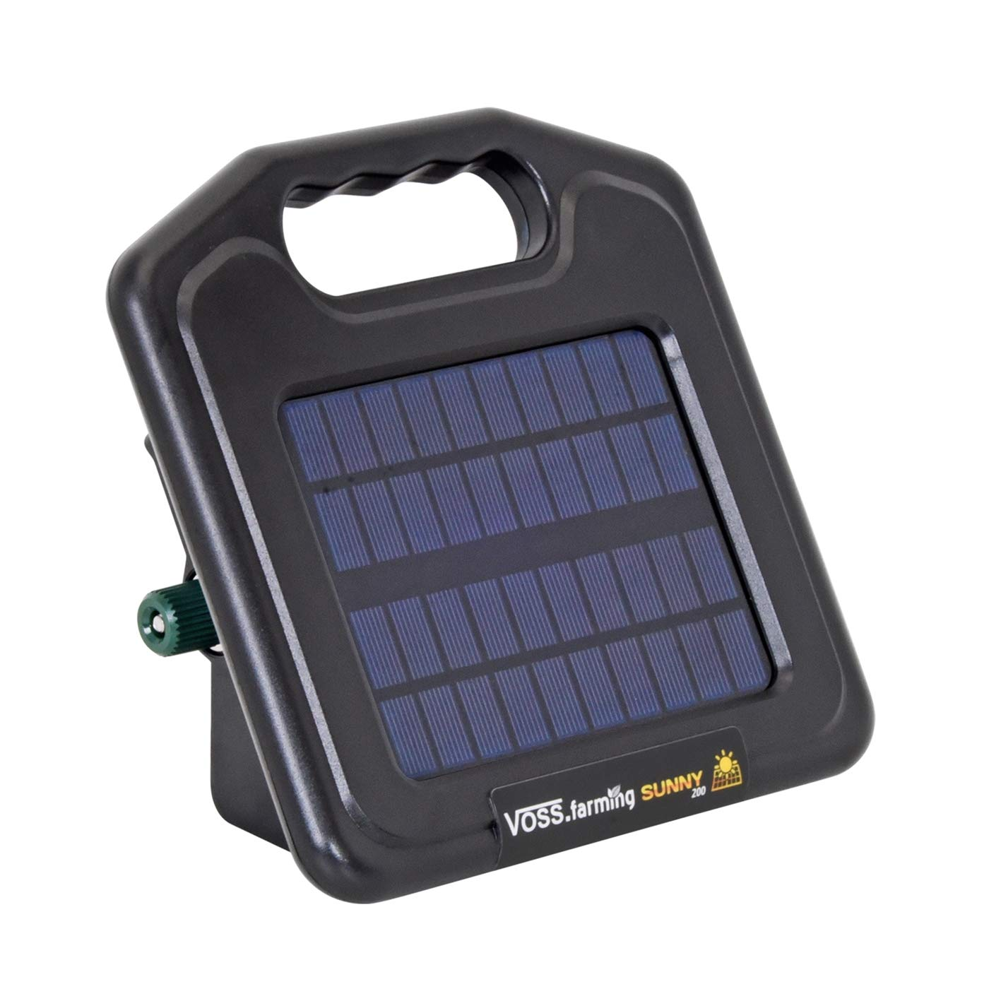 Mains Adapter VOSS.farming Sunny 200 Electric Fence Solar Energiser 8,000 V incl Built-In Li-Ion Rechargeable Battery 0.16 J