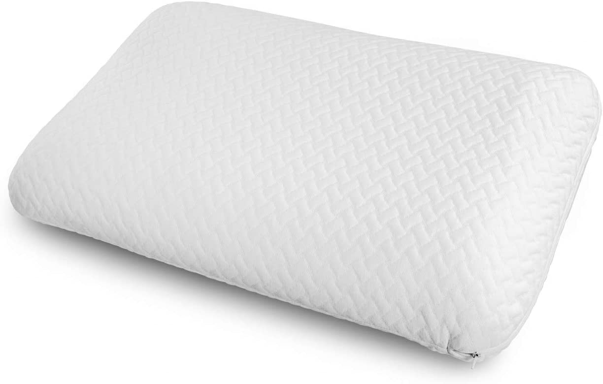 Ambesonne Visco Foam Pillow with Double Bushed Polyester Cover, Airing Holes Breathable Fresh Pad Hotel Grade Comfortable Removable and Machine Washable Inner and Outer Shams, 30