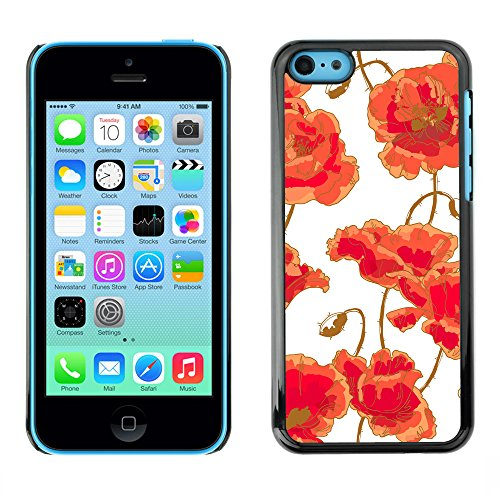 Premio Sottile Slim Cassa Custodia Case Cover Shell // V00002461 Seamless poppy // Apple iPhone 5C