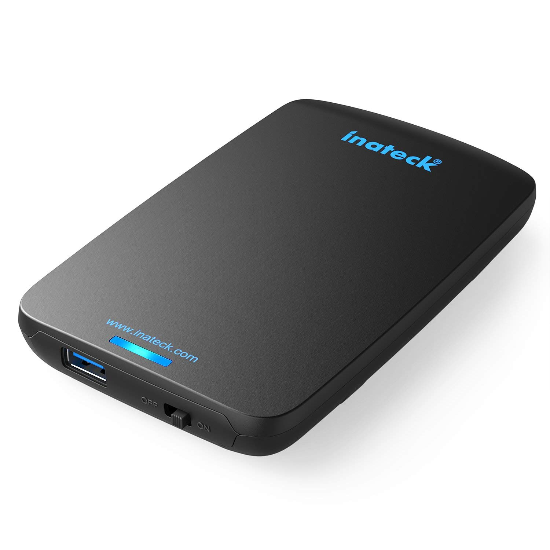Inateck USB 3.0 Carcasa para Disco Duro para 9.5mm 7mm SATA HDD SSD, 2,5 Pulgadas, UASP y SATAIII Compatible  Color Negro FBA_6957599307512