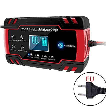 Cargador de batería inteligente de 12 V 8 Amp/24 V 4 Amp con ...