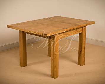 Superieur Clovelly SOLID WOOD CHUNKY OAK SQUARE SMALL EXTENDING DINING TABLE