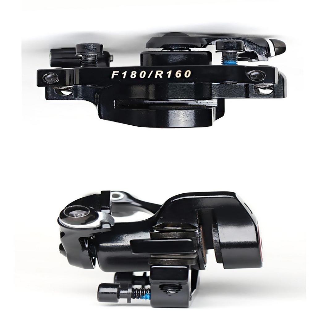 Dreamyth Bike Brake,Aluminum Rear F180//R160 Disc Mechanical Brake Caliper Bike Mountain