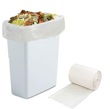 Amazon.com: Morcte - Bolsas de basura 100 % compostables, 18 ...
