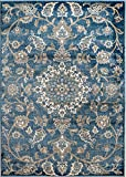 "MADISON COLLECTION CHM/5 X 7/201 405 Vintage Distressed Oriental Persian Blue Area Rug Clearance Soft and Durable Pile. Size Option (3′.7"" x 5′), 3′.7"" x 5′ Review"