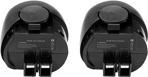2x Batterie 4,8v 2100mah ni-mh pour Metabo powergrip 2 II powermaxx
