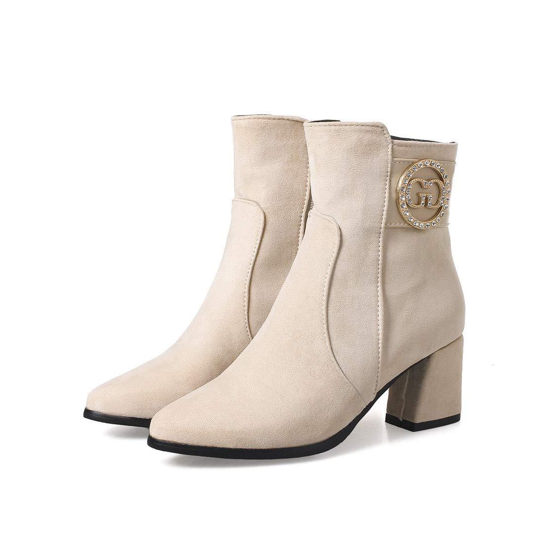 Stiefel-DEDE Damenstiefel   einfache Schuhe für Wilde frauenSockel Winter Ferse Stiefel Größe