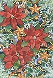 Cheap Toland Home Garden Poinsettia Charms 12.5 x 18 Inch Decorative Winter Holiday Christmas Flower Garden Flag