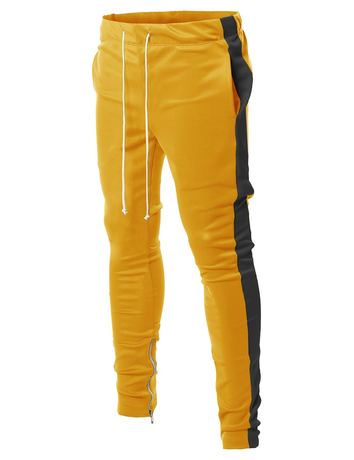 Style by William PANTS メンズ B07B8SXHDS Large|Fsmptl0003 Yellow Black Fsmptl0003 Yellow Black Large
