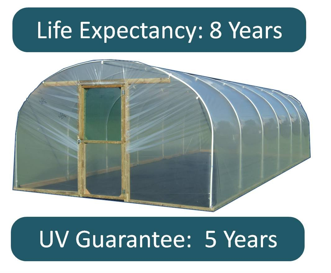 Indasol Polytunnel Polythene Cover ¦ 800g ¦ Clear ¦ Thermal ¦ 7.5m Wide (7.5m x 6m Length) Solplast