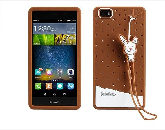 Amazon.com: fabitoo Huawei Ascend P8 Lite Caso, 3d Cute ...