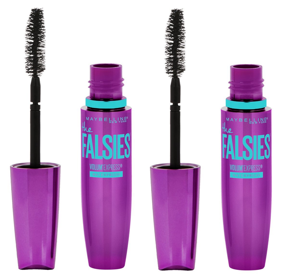 Maybelline Makeup Volum' Express The Falsies Waterproof Mascara, Very Black, 2 count.