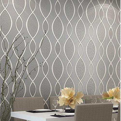Blooming Wall Extra Thick Non Woven Modern Leaf Flow Embossed Textured Wallpaper For