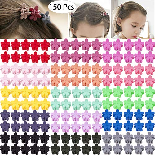 Claws Mini Flower - 150 Pieces Little Baby Girls Hair Bangs Mini Hair Claw Clip Hair Pin Hair Accessories Clips for Girls,Teens, Kids, Toddlers Children