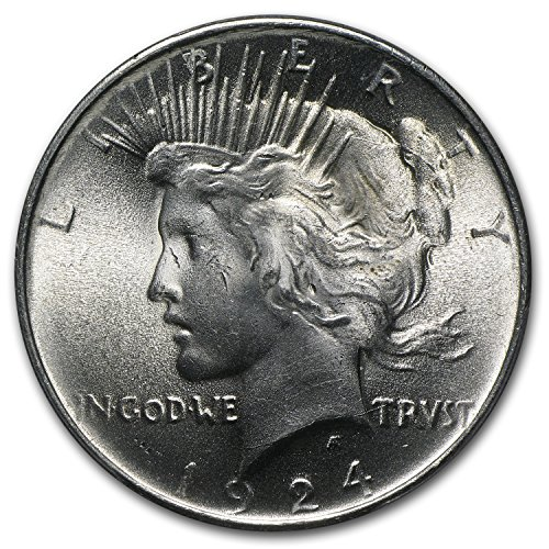 1924 Peace Dollar Ms 63 Pcgs 1 Ms 63 Pcgs At Amazon S