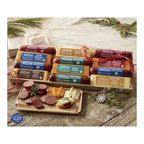 12-Piece Cheese & Sausage Gift Box from Wisconsin Cheeseman by The Wisconsin Cheeseman