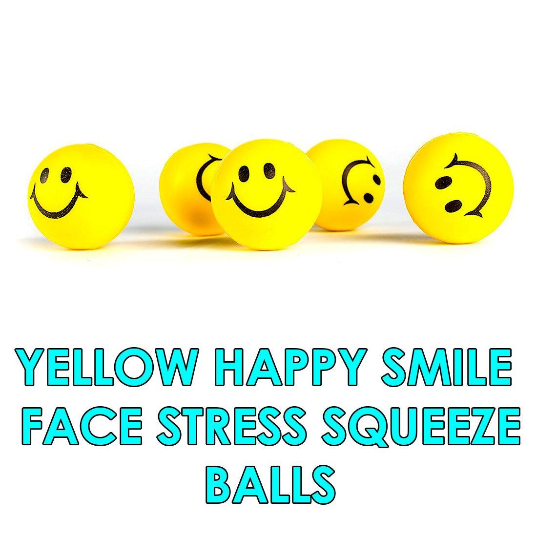 Dazzling Toys Happy Lächeln Face Stressball - Packung mit 24 (D056)