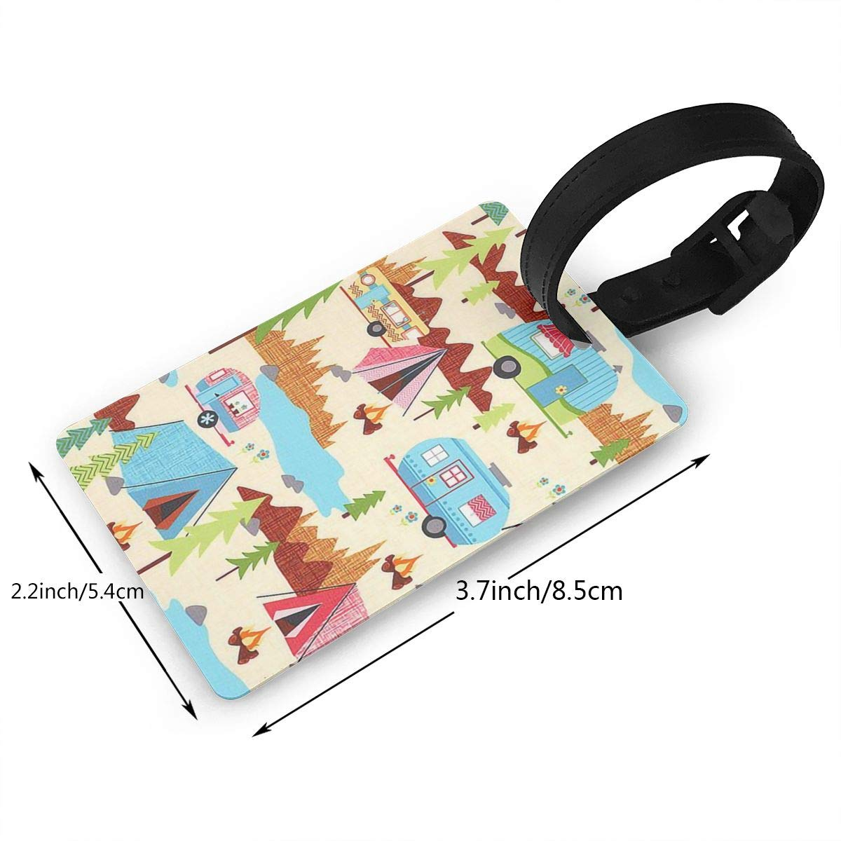 2 Pack Luggage Tags Camping Handbag Tag For Travel Bag Suitcase Accessories