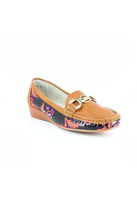 zonedachat - Mocasines Mujer , Beige (marrón (camel)), 40: Amazon.es: Zapatos y complementos