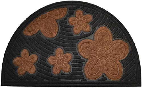 Imports Decor Synthetic Half Round Door Mat, 18 x 30