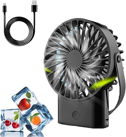 Ventilador USB, mini ventilador de mano, súper silencioso, hasta ...