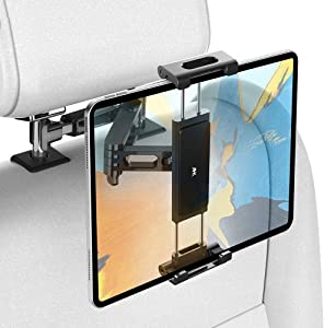 AHK Car Headrest Mount Holder, Universal for iPad Pro/Air/Mini, Tablets, Nintendo Switch, iPhone, Samsung Galaxy/Note, Smartphones, Compatible with 4.5