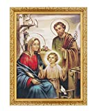 FengMicon the Holy Family Religious Tapestry Framed for Hanging