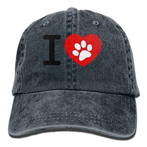 Hainingshihongyu I Love Dog Baseball Caps Adult Sport Cowboy Trucker Hats Adjustable - Reno Mall Stores