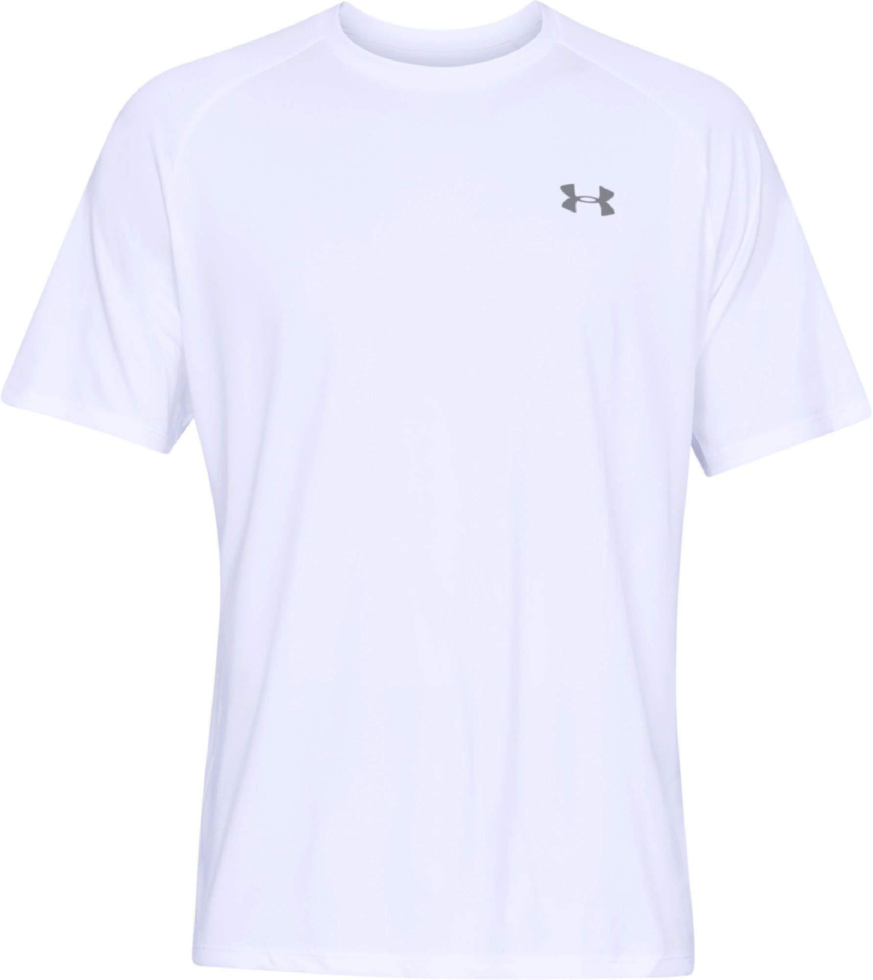 Under Armour Men's UA Tech Short Sleeve Tee 2.0, White, XS-R