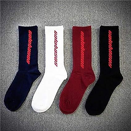 3bb3031a4e6bb Amazon.com: Men Women Calabasas Letter Socks Korea Harajuku Europe ...
