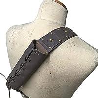 Buding - Soporte para espada de piel ajustable para diestros de piel con cordón decorativo variable para diferentes…