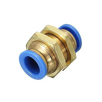 5pcs Pneumatische Steckverbindung Winkelanschluss Druckanschluss Luft 6mm-12mm