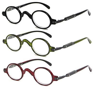 6fe9a84b3549 Image Unavailable. Image not available for. Color  Calabria R314 Vintage  Professor Oval Reading Glasses ...