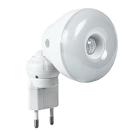 Gosear 2 en 1 Sensor PIR de Movimiento 5W LED Blanco Bombilla de luz con Amarilla
