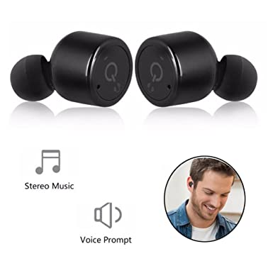 Verdaderamente auriculares inalámbricos, auriculares Bluetooth manos libres inalámbrico más pequeño Mini auriculares auriculares reducción de