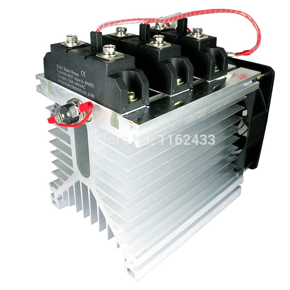 H3120ZF-3 Three Phase DC to AC 120A 24-480Vac Industrial Grade Solid State Relay Set/SSR Set by GalaxyElec
