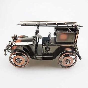 Escultura Antigua Carro De Bomberos Handcrafted Vehículo De Colección De Metal Niños Modelo De Juguete Decoración Del Hogar Decoración De La Habitación ...