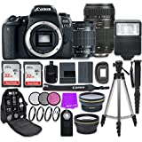 Canon EOS 77D 24.2 MP Digital SLR Camera with Wi-Fi & Bluetooth + Canon EF-S 18-55mm IS STM Lens + Tamron Zoom 70-300mm f/4-5.6 Lens + Accessory Bundle