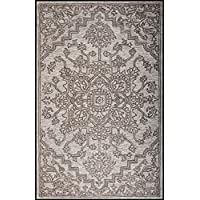 Champo Carpets Houston N65561 8x10 Ivory/Silver, Handtufted Area Rug