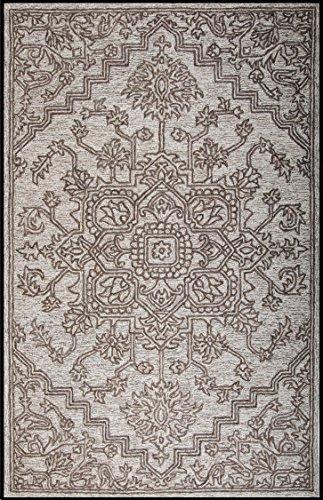 Houston Area Rug - Champo Carpets Houston N65561 8x10 Ivory/Silver, Handtufted Area Rug