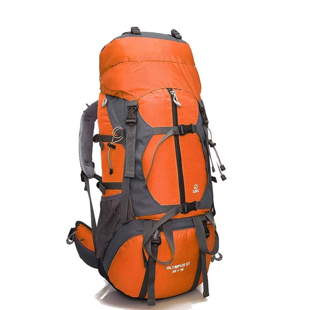 Orange  Sac d'alpinisme Hommes Et Femmes Sac à Dos De Voyage en Plein Air 50l Grande Capacité Sac De Voyage Sac à Dos De Randonnée Imperméable (Couleur   Le Jaune)