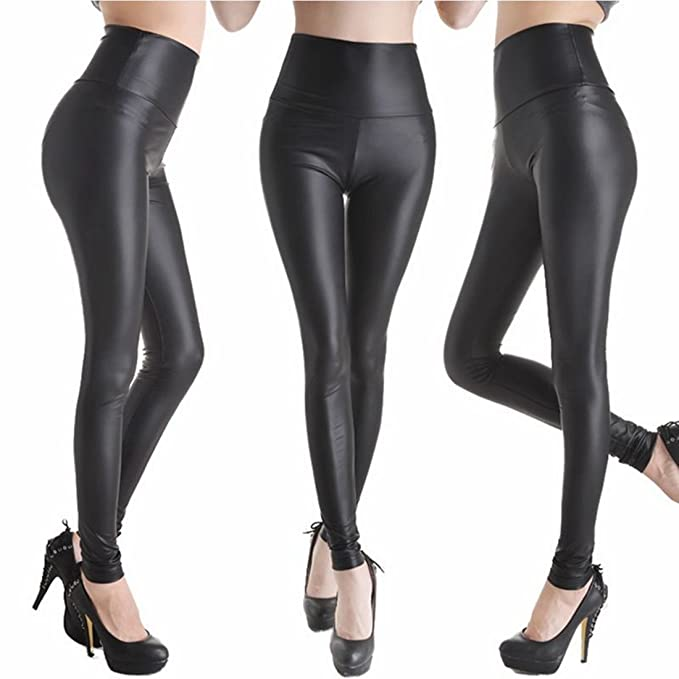 997aaca5207389 A Plus XXL Womens Faux Leather Leggings Skinny Tight Size Leggings (Small, High  Waist Black) at Amazon Women's Clothing store: