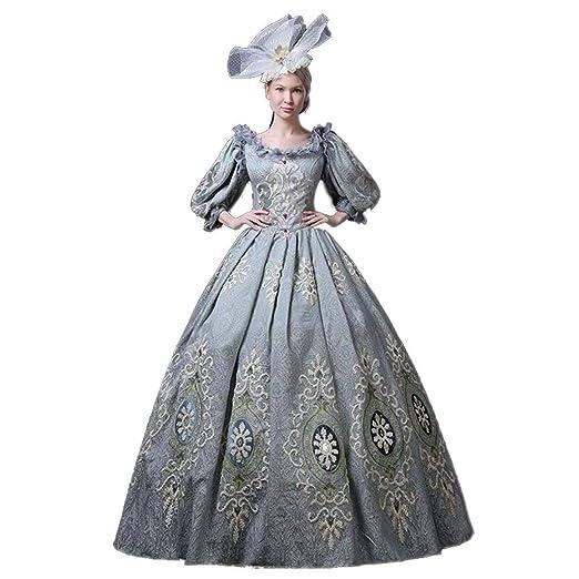 QJXSAN For Mujer Medieval de Estilo Victoriano Vestidos Real de la ...