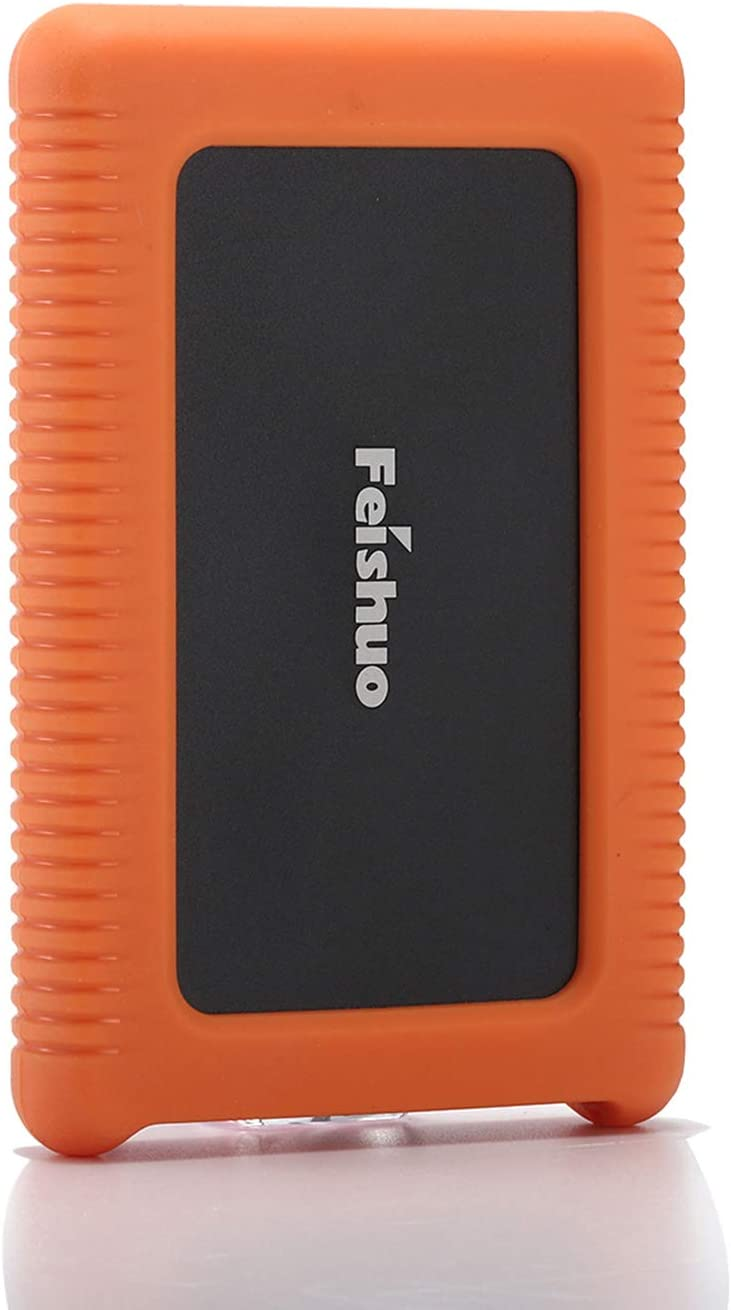 Portable External Hard Drive USB3.0 SATA HDD Storage — External Hard Drive Silicone Case Anti-Drop, Shockproof and Rainproof (160G, Black)